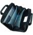 Портфель пластиковый на 4 отделения, В4 (300 х 380 мм), с тканевыми боками на молнии, AXENT 1621-11-A 1
