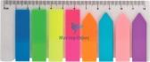 Закладки пластиковые NEON (8 х 25 л.) 45 х 12 мм и 42 х 12 мм Buromax BM.2307-98 1