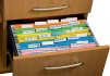Файл картонный подвесной для картотеки А4 (320 мм х 240 мм) с индексом Buromax BM.3350-10 розовый 0