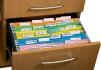 Файл картонный подвесной для картотеки А4 (320 мм х 240 мм) с индексом  Buromax BM.3350-11 оранжевый 1