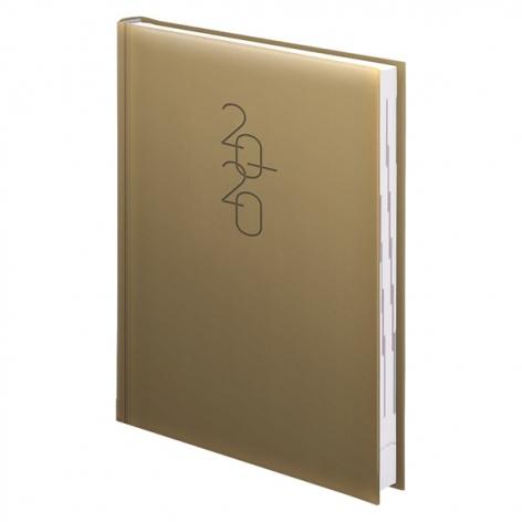 Ежедневник датированный BRUNNEN 2020 Стандарт Графо золотой, артикул 73-795 68 10 код 43006