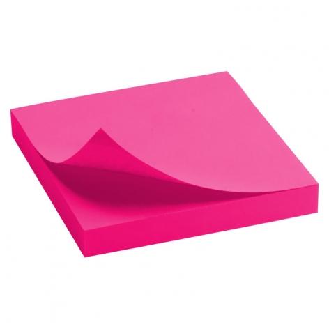 Блок бумаги с липким слоем 75x75 мм, 100 листов Delta by Axent  D3414-13 ярко-розовый