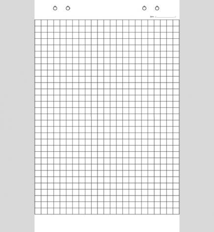 Блок бумаги для флипчартов, клетка, 30 листов, 64 х 90 см, AXENT 8065