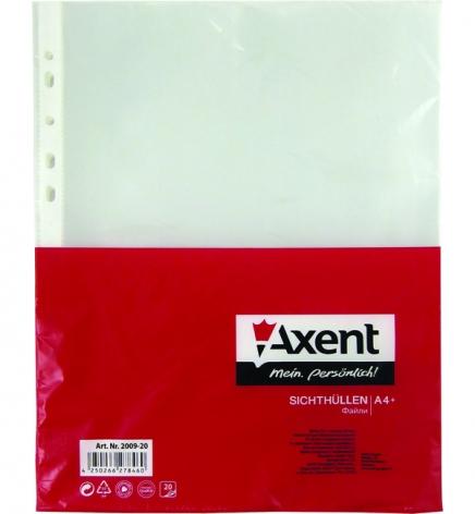 Файлы А4, 90 мкм, глянец AXENT 2009-20-A