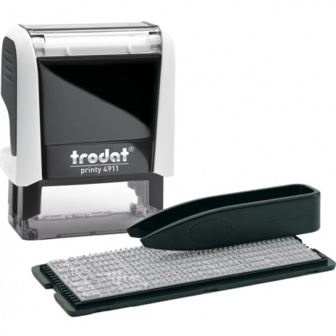 Штамп самонаборной текстовый 3-х строчный TRODAT 4911 корпус белый