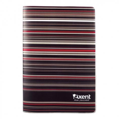 Записная книга Stripes A5, 80 листов, кремовый внутренний блок в клетку Axent 8000-15-A