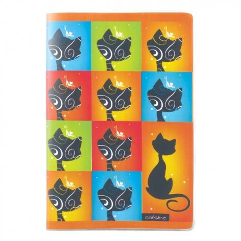 Записная книга Catsline A5, 80 листов, кремовый внутренний блок в клетку Axent 8000-14-A