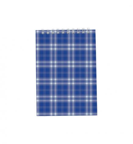 Блокнот на пружине, В6- ( 95 х 140 мм) 48 л., клетка, картонная обложка Buromax BM.2480-02 синий