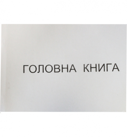 Главная книга А4, 96 л. офсет, блок прошнурован
