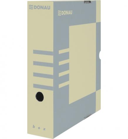 Бокс для архивации документов, 80 мм Donau 7660301PL-02 крафт