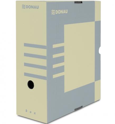 Бокс для архивации документов, 120 мм  Donau 7662301PL-02 крафт