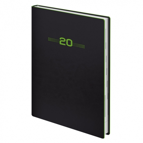 Ежедневник датированный BRUNNEN 2020 Стандарт Flex Neo черный с салатовым, артикул 73-795 71 44 код 43148