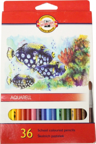 Карандаши цветные акварельные 36 цветов Mondeluz