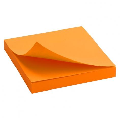 Блок бумаги с липким слоем 75x75 мм, 100 листов Delta by Axent  D3414-15 ярко-оранжевый