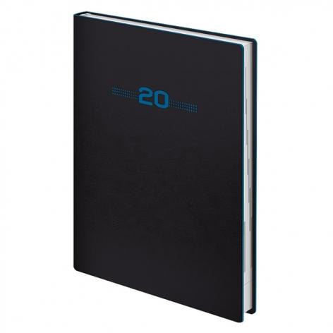 Ежедневник датированный BRUNNEN 2020 Стандарт Flex Neo черный с голубым, артикул 73-795 71 32 код 43145