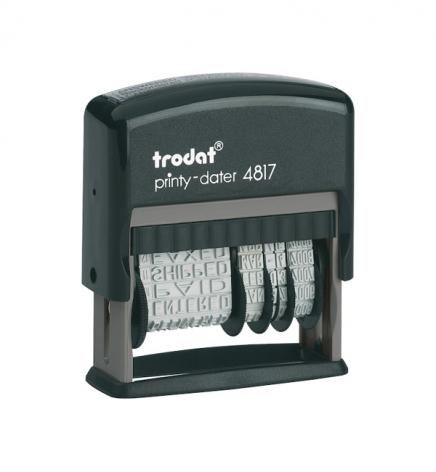 Датер пластиковый с 12 бухгалтерскими терминами, шрифт укр. 4 мм Trodat 4817