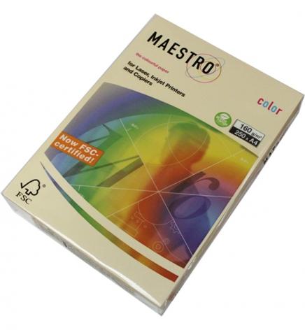 Бумага Maestro Color Pastel A4 160 г/м2, 250 л Cream (крем) CR20