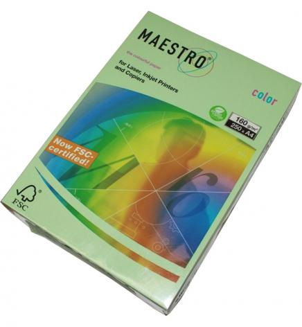Бумага Maestro Color Pastel A4 160 г/м2, 250 л Medium Green (cветло-зеленый) MG28