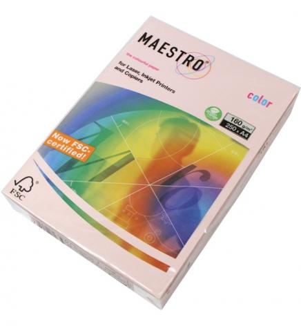 Бумага Maestro Color Pastel A4 160 г/м2, 250 л Flamingo (св-розовый) OPI74