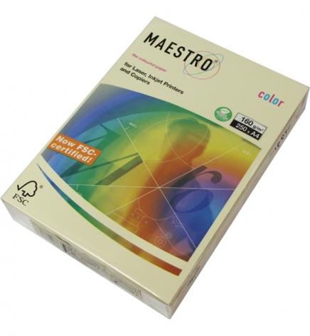 Бумага Maestro Color Pastel A4 160 г/м2, 250 л Vanilla (св-бежевый) BE66