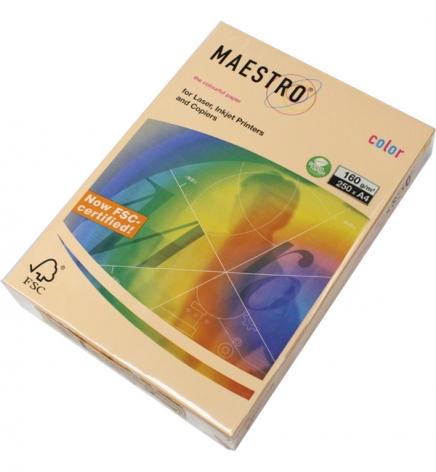 Бумага Maestro Color Pastel A4 160 г/м2, 250 л Salmon (лосось) SA24
