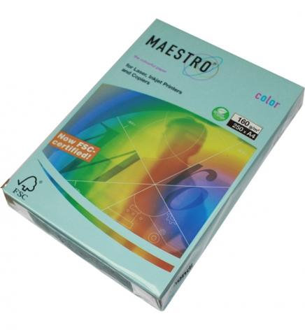 Бумага Maestro Color Pastel A4 160 г/м2, 250 л Medium Blue (голубой) MB30