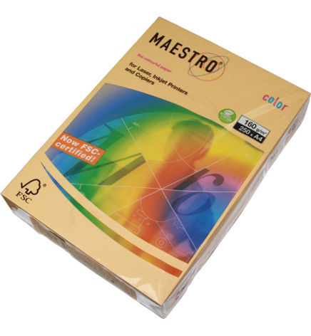 Бумага Maestro Color Trend A4 160 г/м2, 250 л Gold (бежевый) GO22