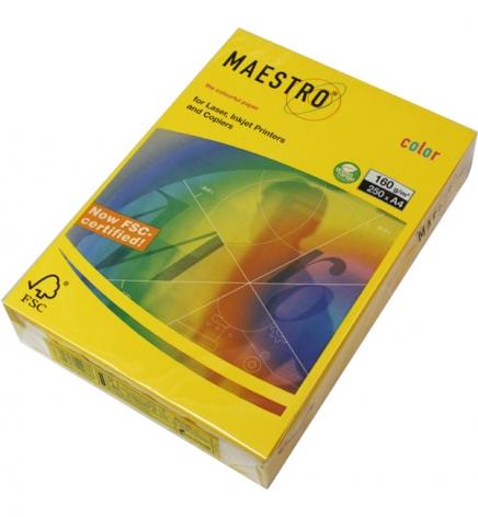 Бумага Maestro Color Intensive A4 160 г/м2, 250 л Mustard (горчичный) IG50