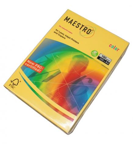 Бумага Maestro Color Intensive A4 160 г/м2, 250 л Canary Yellow (желтый) CY39