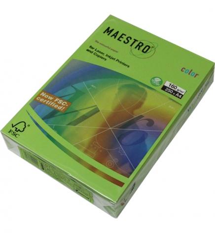 Бумага Maestro Color Intensive A4 160 г/м2, 250 л Spring Green (зеленый) MA42