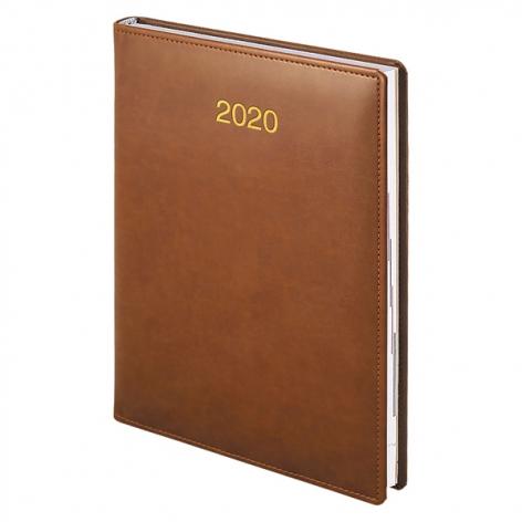 Ежедневник датированный BRUNNEN 2020 Стандарт Soft, коричневый, артикул 73-795 36 70 код 42994