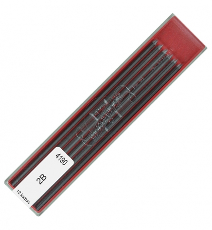 Грифель для цангового карандаша 2,0 мм (12 шт в упаковке) Koh-i-noor 4190.2B