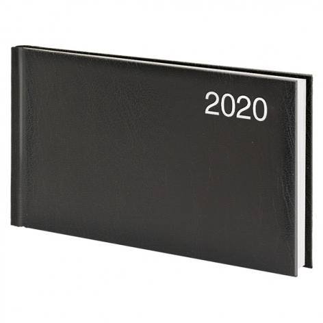 Еженедельник карманный датированный BRUNNEN 2020 Miradur, черный, артикул 73-755 60 90 код 43057