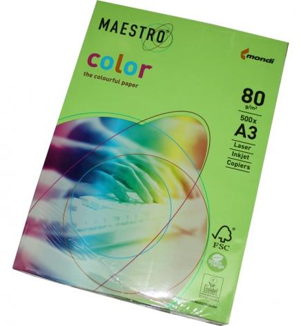 Бумага Maestro Color Intensive A3 80 г/м2, 500 л Spring Green (зеленый) MA42