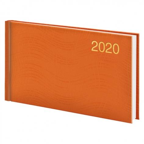 Еженедельник карманный датированный BRUNNEN 2020 Wave, оранжевый, артикул 73-755 76 40 код 43226
