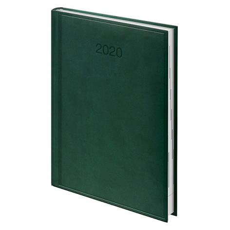 Ежедневник датированный BRUNNEN 2020 Стандарт Torino, зеленый, артикул 73-795 38 50 код 42997