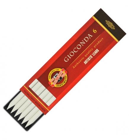 Грифель белый художественный мелок Gioconda, 5.6 мм, Koh-i-noor 4371