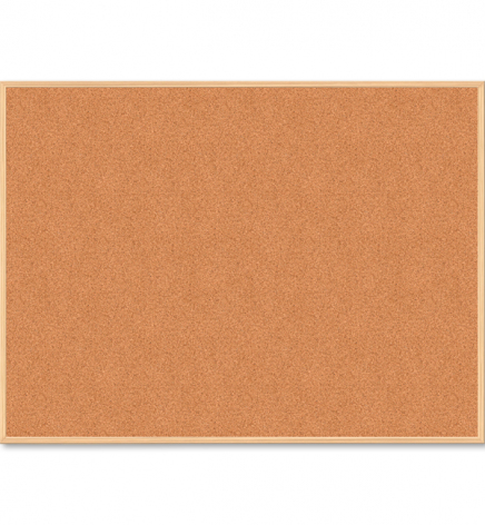 Доска пробковая, 90 x 120 см, деревянная рамка, Buromax BM.0015