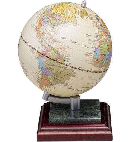Глобус на подставке из натурального дерева и мрамора, красное дерево, BESTAR 0927WPM