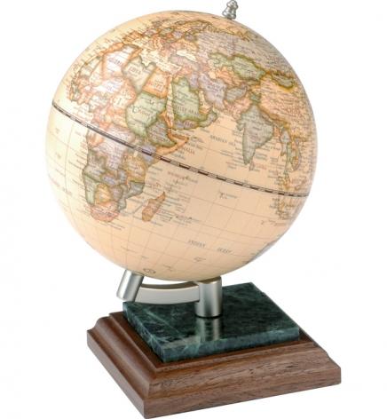 Глобус на подставке из натурального дерева и мрамора, орех,  BESTAR 0927WPN