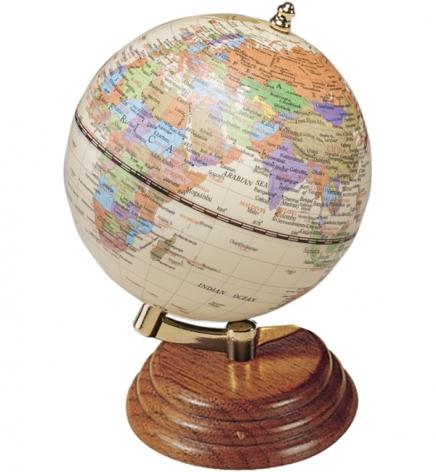 Глобус на подставке из натурального дерева, орех, BESTAR 0909WPN