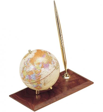 Глобус на подставке из натурального дерева с ручкой, орех,  BESTAR 0910WDN