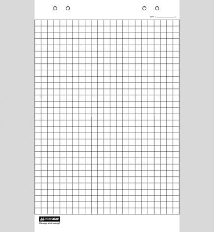 Блок бумаги для флипчартов, клетка, 20 листов, 64 х 90 см, Buromax BM.2297