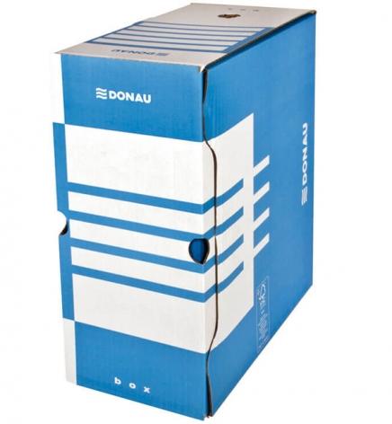 Бокс для архивации документов, 155 мм Donau 7663301PL-10 синий