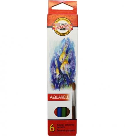 Карандаши цветные акварельные 6 цветов Mondeluz