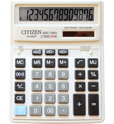 Калькулятор 14р. Citizen SDC-740
