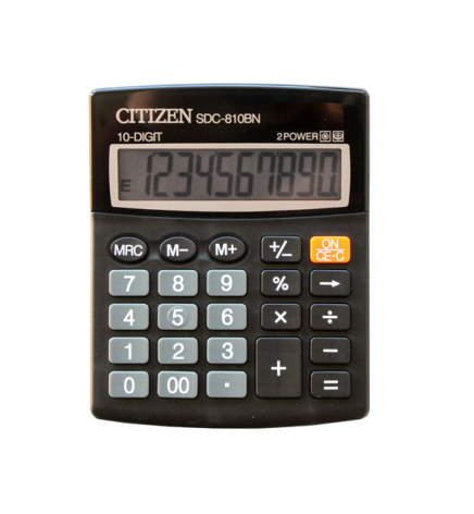Калькулятор 10р. Citizen SDC-810BN