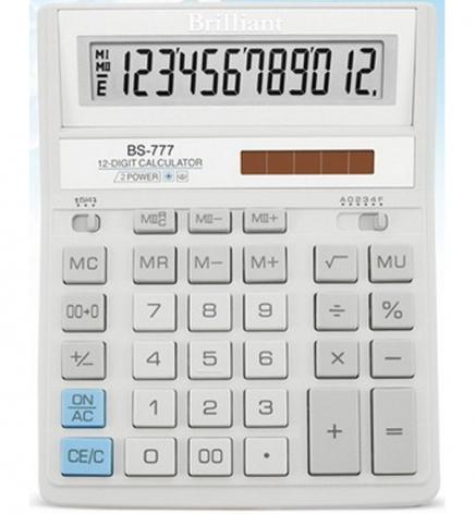 Калькулятор 12р. Brilliant BS-777WH