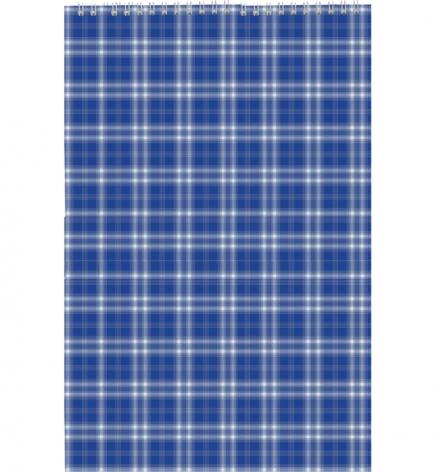 Блокнот на пружине, А4, 48 л., клетка, картонная обложка Buromax BM.2460-02 синий