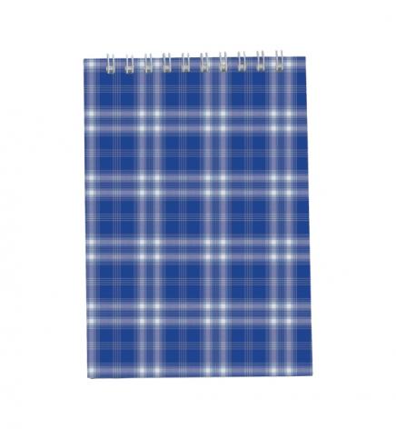 Блокнот на пружине, А5 ( 150 х 210 мм) 48 л., клетка, картонная обложка Buromax BM.2470-02 синий